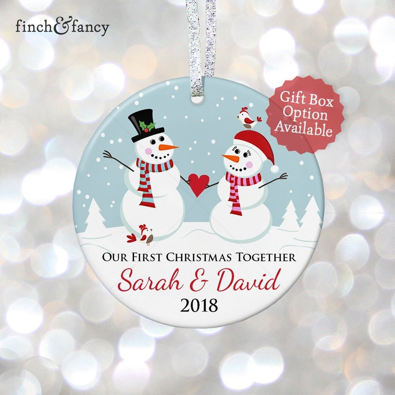 Our First Christmas Together Romantic Gift for Boyfriend Gift for Girlfriend Gift for Christmas Boyfriend Gift Ideas First Anniversary Gift