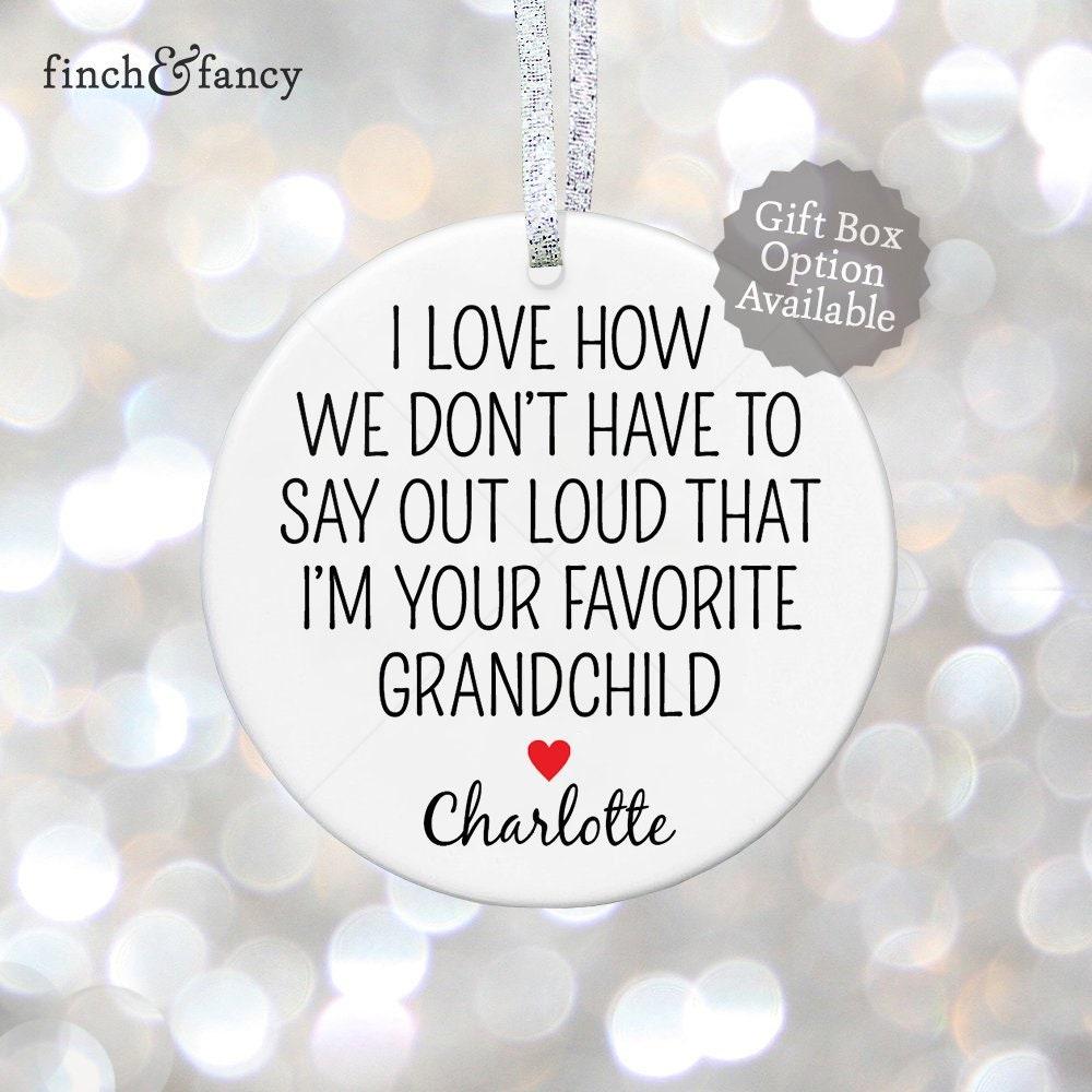 Grandparents Ornament Grandmother Gift Grandma Christmas Gift   Etsy