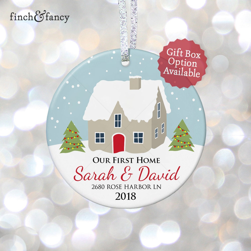 Our First Home Christmas Personalized Ornaments