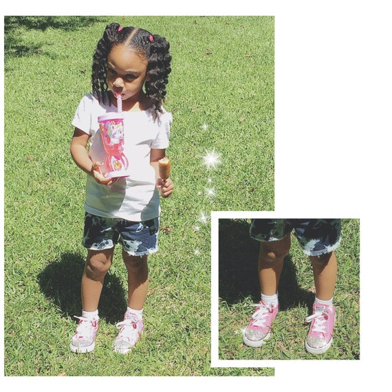 fa8fd0c1a4f2 Toddler Converse with Swarovski on Toe and Heel