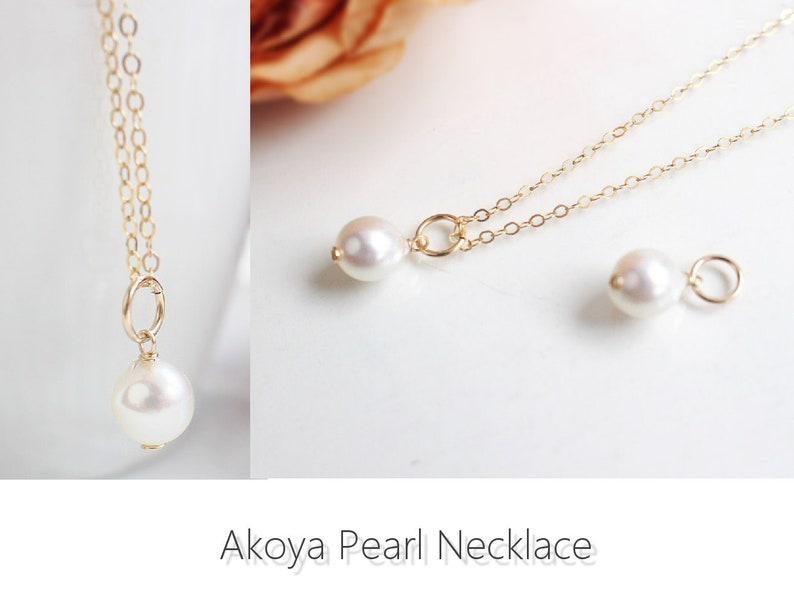 Akoya Pearl Charm Pendant Tiny Pearl Gift Add A Charm Single Pearl Choker Tiny Pearl Necklace Akoya Pearl Charm Akoya Pearl Necklace