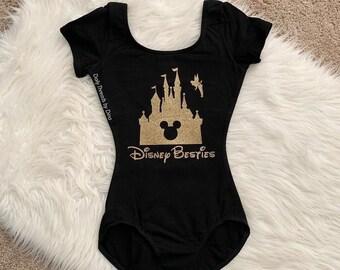 NEVER LOSE Your SPARKLE glitter Leotard Flutter short long sleeve tank sleeveless Tinkerbell tink Disney Disneyland fairy castle