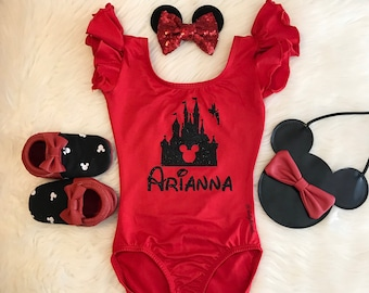 Not your Basic Mouse featuring Mickey Dabbing Leotard sleeveless flutter short long sleeve infant baby leotard girl kids disney dab