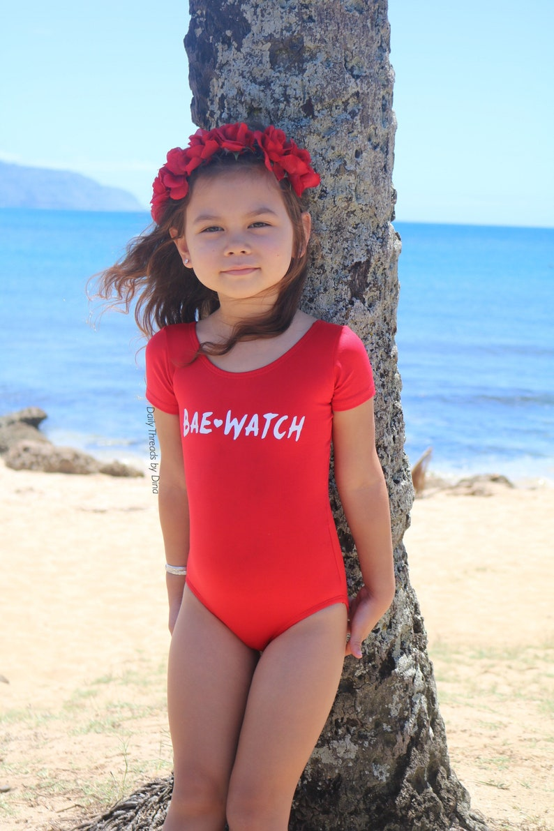 0d8a485a318e BAE WATCH © Leotard   Crop Top  Shirt by Daily Threads Kids
