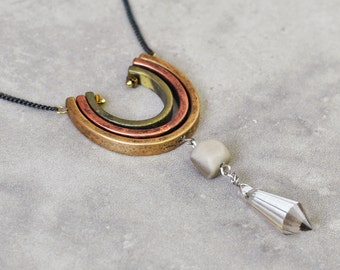 Boho necklace, bohemian necklace, long necklace, pendant necklace, beaded necklace, tribal necklace, gypsy jewelry, ethnic necklace