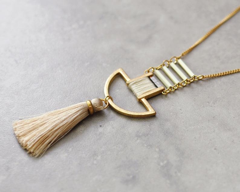Boho necklace bohemian necklace long necklace pendant image 0
