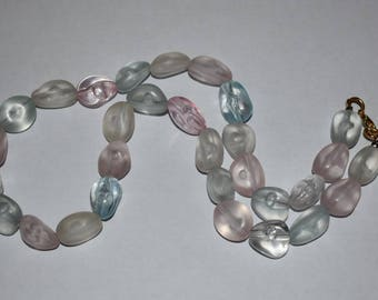 Pretty pastel beaded necklace