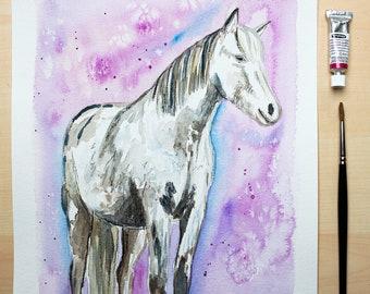 horse watercolour painting original
