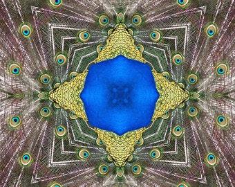Pfau Mandala Karte