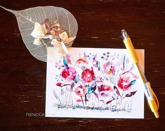 flowers joy colourful watercolour print