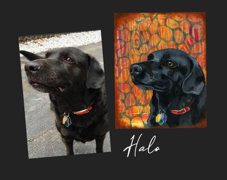 Custom Acrylic Pet Portrait Paintings image 0