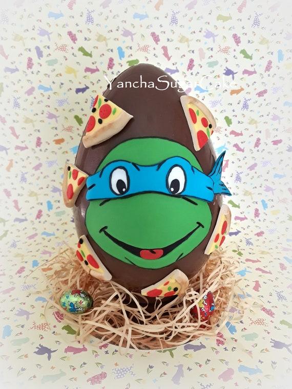 "cake topper Portachiavi Figura 3/"" NUOVO CON SCATOLA Teenage Mutant Ninja Turtles Clip /& Go Set"