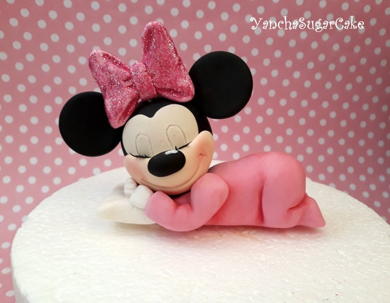 Fabulous Fondant Edible Cake Topper Minnie Mouse Sleeping Baby Disney Funny Birthday Cards Online Inifodamsfinfo