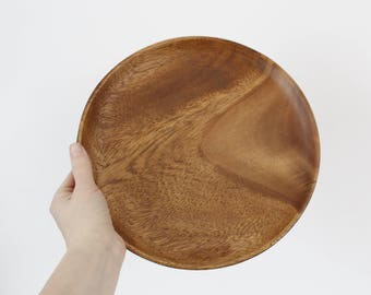 Vintage Monkey Pod Wood Tray / Serving Tray / Mid Century / Vintage Serving / Wooden Tray