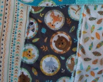 Woodland Animal Bib & Burp Cloth Sets; Baby Shower Gift
