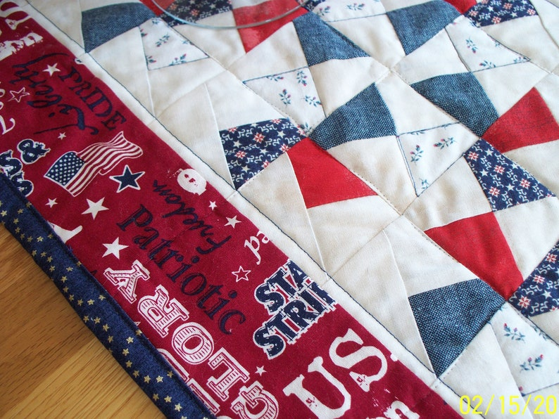 Patriotic Table Runner; July 4th; Memorial Day; USA