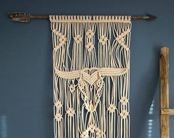 Macrame | Western | Arrow | Macrame wall hanging | Modern macrame | Tapestry | Woven wall hanging | Boho decor | Bohemian decor | Gift