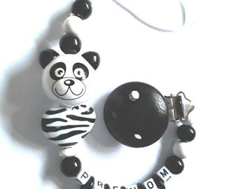 Panda heart pacifier