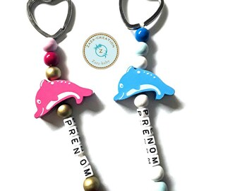 Dolphin Keychain personalize with the name of your choice