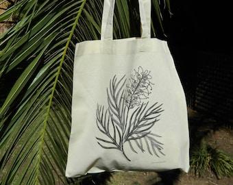 Calico bag, Grevillea, Tote bag, Australian Native Flowers, Eco friendly bag, Cotton bag