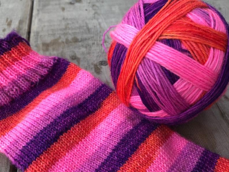 Self Striping Sock Yarn READY TO SHIP Sunset Sky