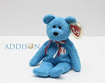 0b89ebcd85d TY Beanie Baby Addison the Baseball Bear Plush Toy Collectibles RTS