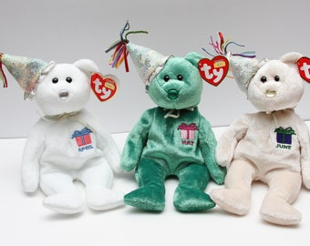 TY Beanie Babies Birthday Bear June Collectible RTS 2804541f504e