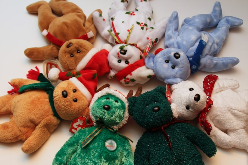 de6303d2a31 Clearance TY Beanie Baby Holiday Teddy Bears Collectibles RTS