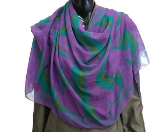 Long DISSENT scarves for Ruth Bader Ginsburg in jade or purple colors