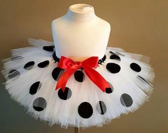 Dalmatian Tutu White tutu polka dots tutu halloween tutu infant tutu toddler tutu girls tutu costume tutu puppy tutu ballerina tutu