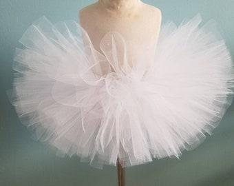 White tutu ghost tutu ice princess tutu ballerina fairy tutu halloween tutu toddler tutu infant tutu little girls tutu  flower girl tutu