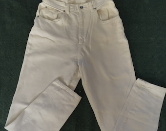 High Waisted Skinny White Pants