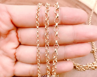 3mm Rose Gold Filled Fine Rolo Chain #RGV089