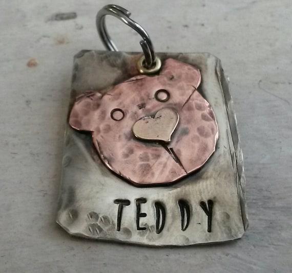 Pet Tag Cat Tag Pet ID Tag Dog tag Radiohead Bear *Inspired*