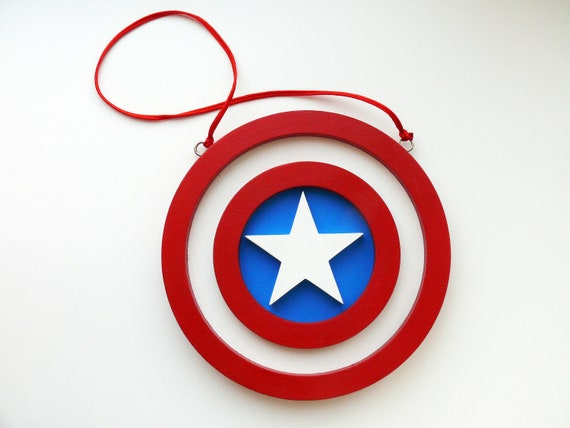 Captain America Sign Captain America Decor Captain America Etsy