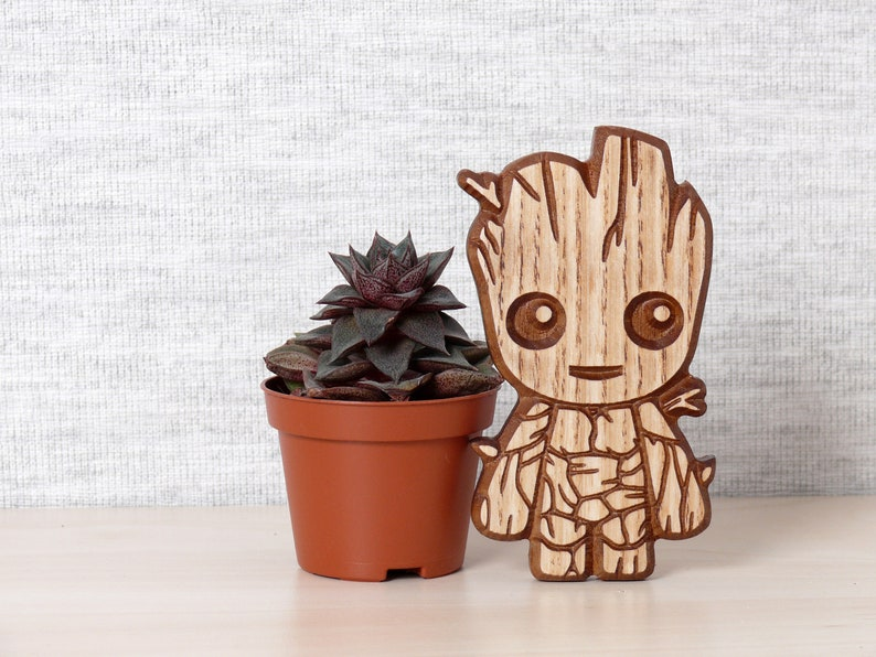 Baby Groot Wooden Refrigerator Magnet Guardians Of The Galaxy Marvel Comics Fan Gift Geek Gift Kitchen Decor Fridge Magnet