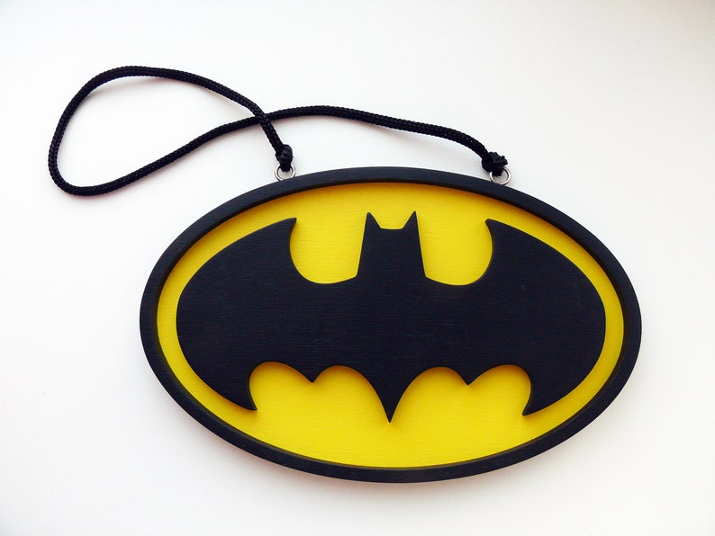 Batman Logo Holzschild Batman Batman Zeichen Batman Holz Dekor Batman Wand Dekor Batman Geschenk Batman Zeichen Für Jungen Zimmer Batman