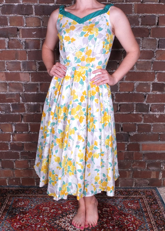 Vintage 50s Summer Dress Floral California Cottons