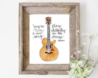 Guitar Art Etsy