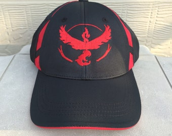 45a11024 Pokemon Go Team Valor Red Hat High Quality Embroidery