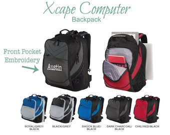 8f5020155935 Personalized Backpack- Custom Embroidery Bag- School Travel Sport- Customized  Name Initials Text Logo- Xcape 17