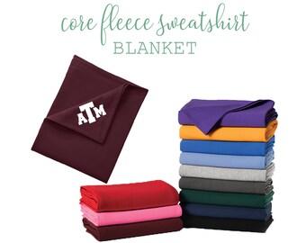 c4de901ec3a Custom Core Fleece Sweatshirt Blanket