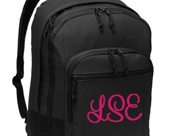 e8f1eb804f78 Personalized Backpack- Monogrammed Bag- Custom Embroidery School Bag- Laptop  Sleeve- Embroider Name Initials or Logo