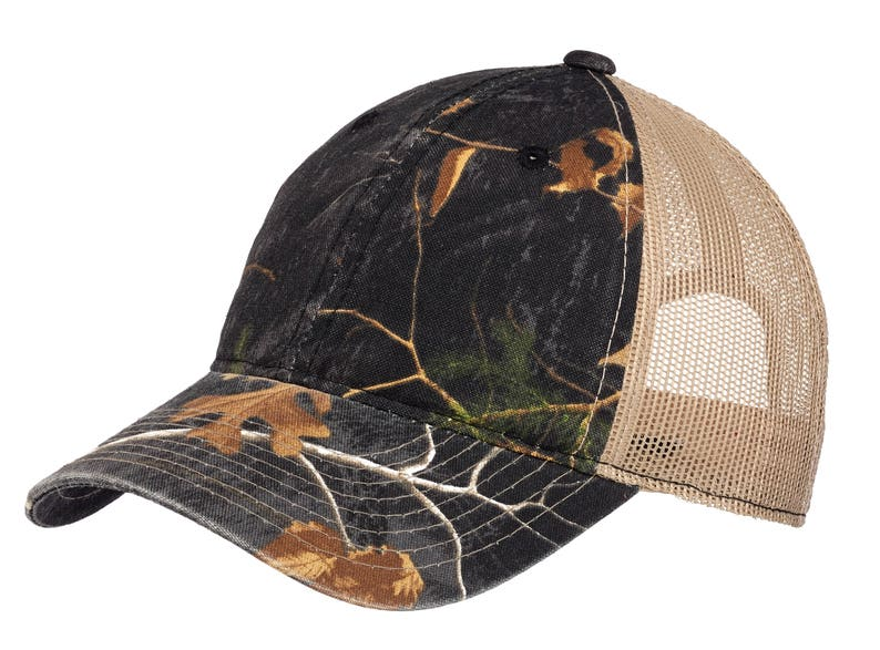 Unstructured Camouflage Mesh Back Cap- Custom Embroidery- Embroider With  Name Text Monogram- Perfect Outdoor camo hat