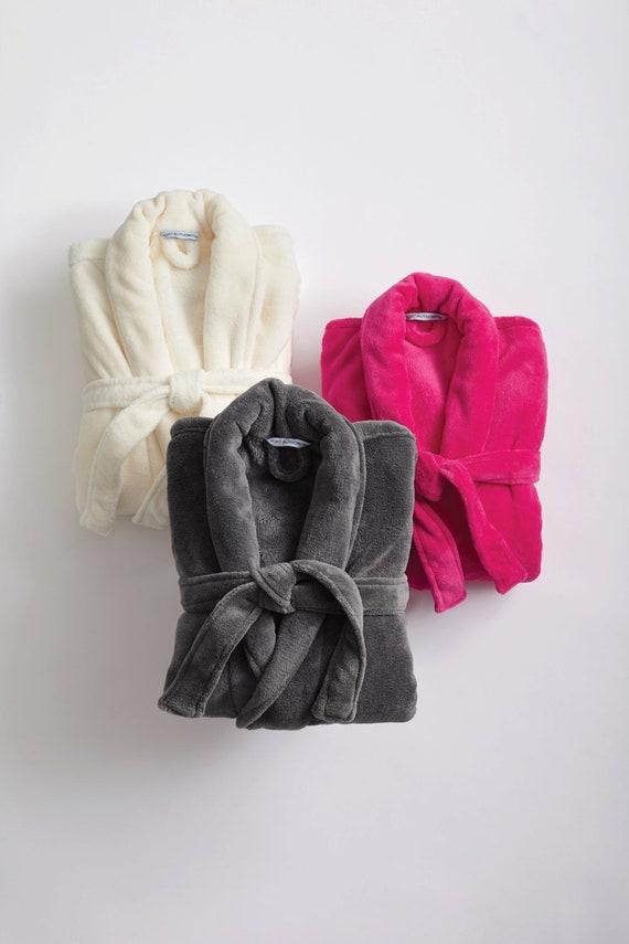 5dd2d8d433 Monogrammed Micro-fleece Robe Men Women Personalized with