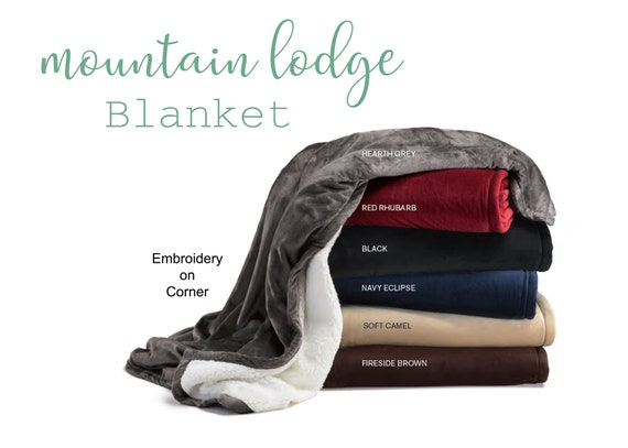 Custom Mountain Lodge Blanket Add Your Logo or Text
