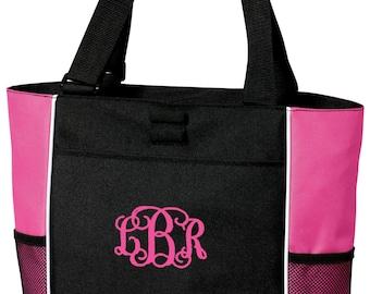 Personalized Monogram Tote Bag- Birthday Nurse Diaper Dance Gymnastics Ballet Gym Beach