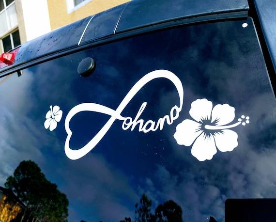 Disneys Lilo And Stitch Inspired Ohana Car Decal With Hawaiian Etsy
