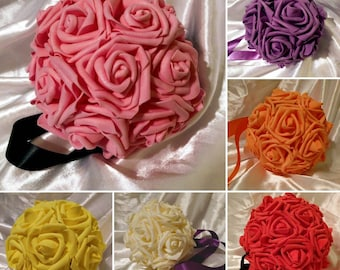 Pomander / Kissing Ball Centerpieces  ~ Ribbon attached to easily hang or Flower Girl to carry ~ Multiple sizes and colors available