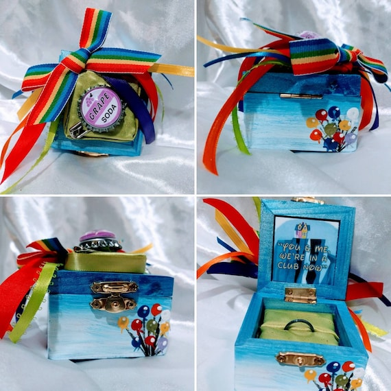 Disneys Pixar Movie Up Inspired Engagement Ring Box Complete Etsy